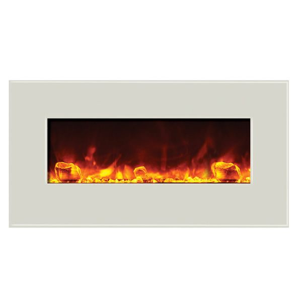"Amantii Advanced 34"" Electric Fireplace - White image number 0"