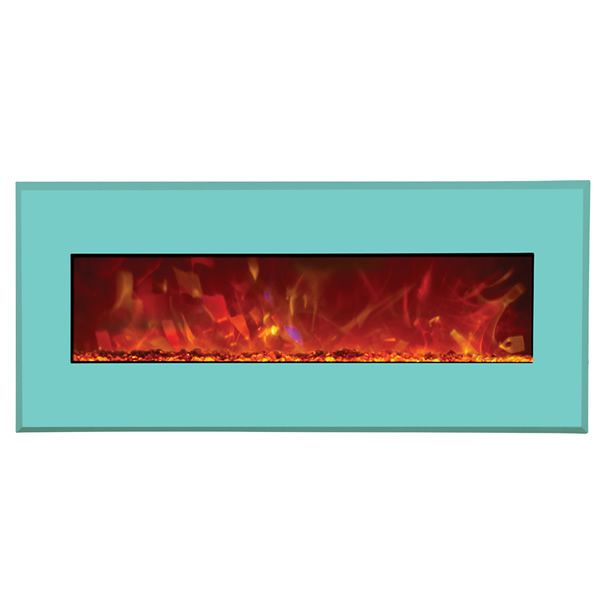 "Amantii Advanced 43"" Electric Fireplace - Coastal Blue image number 0"