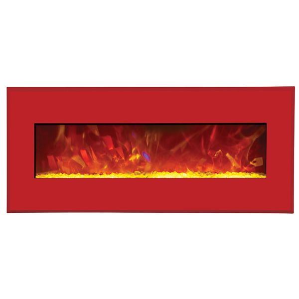 "Amantii Advanced 43"" Electric Fireplace - Candy Apple Red image number 1"