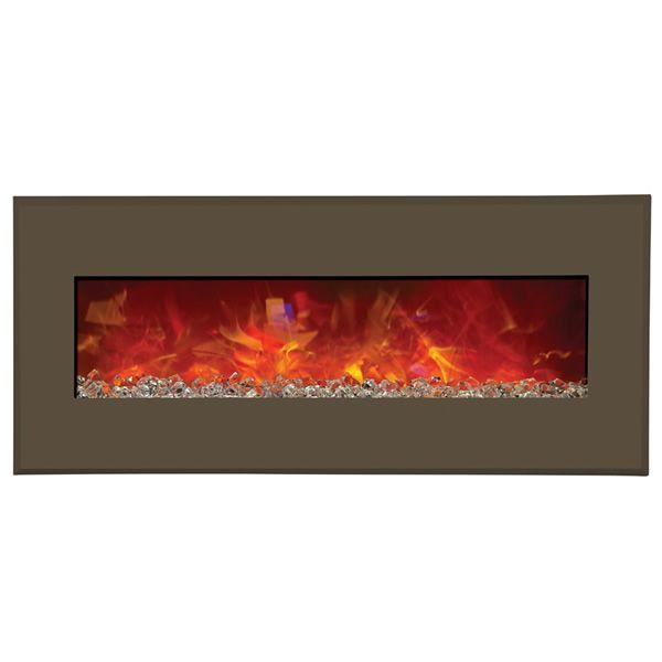"Amantii Advanced 43"" Electric Fireplace - Modern Auburn Steel image number 1"