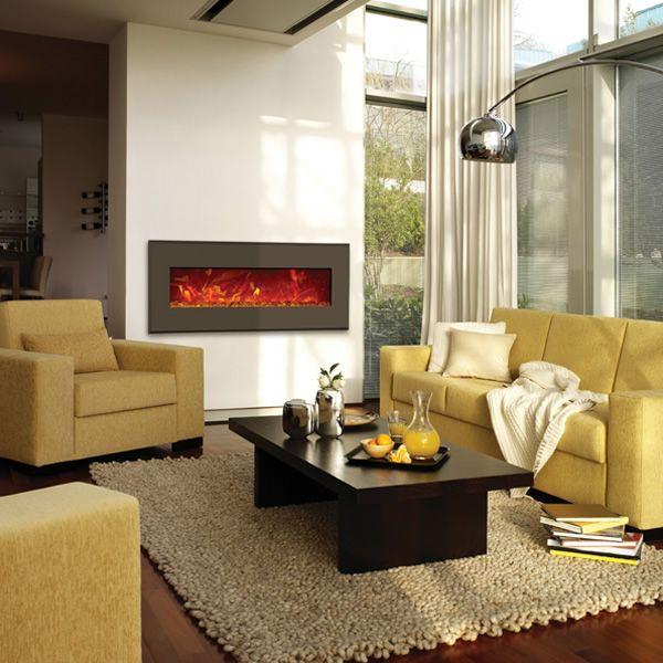 "Amantii Advanced 43"" Electric Fireplace - Modern Auburn Steel image number 2"