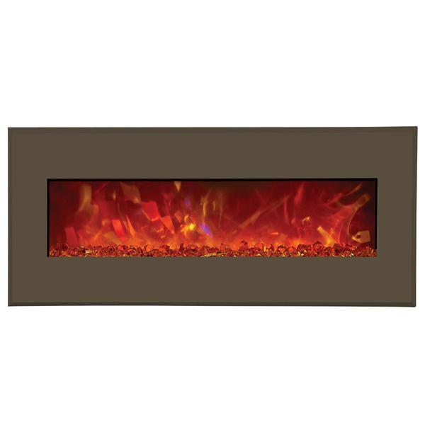 "Amantii Advanced 43"" Electric Fireplace - Modern Auburn Steel image number 0"