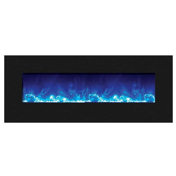 "Amantii Advanced 48"" Electric Fireplace - Black Glass image number 1"