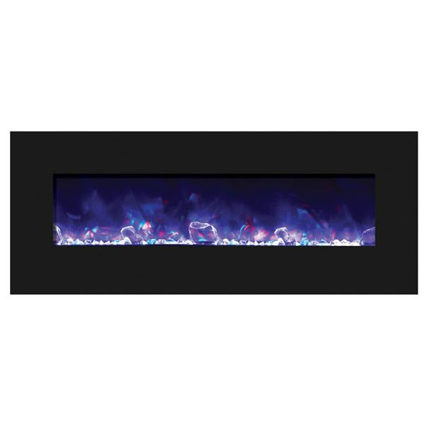 "Amantii Advanced 48"" Electric Fireplace - Black Glass image number 2"