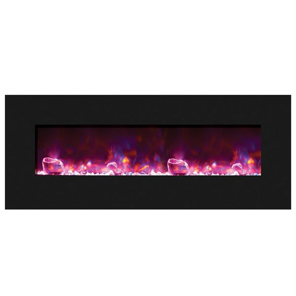 "Amantii Advanced 48"" Electric Fireplace - Black Glass image number 3"