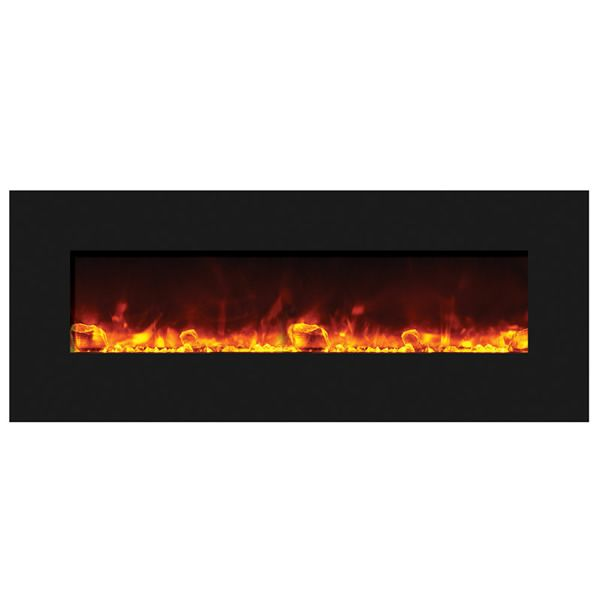 "Amantii Advanced 48"" Electric Fireplace - Black Glass image number 0"