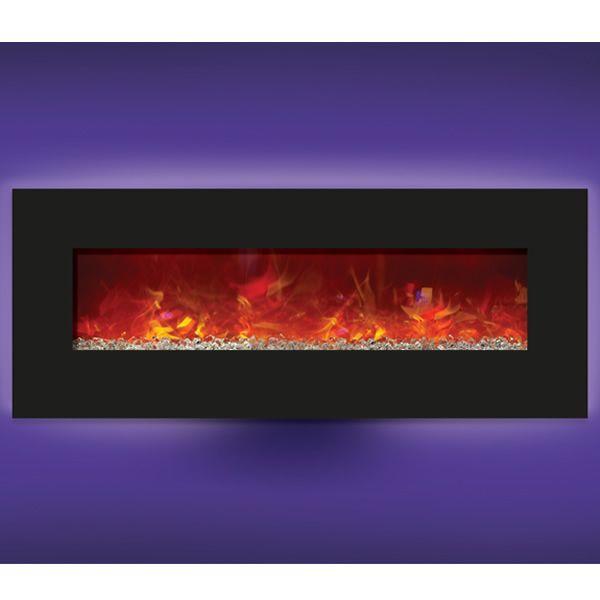 """Amantii Enhanced 48"""" Electric Fireplace - Black image number 3"""
