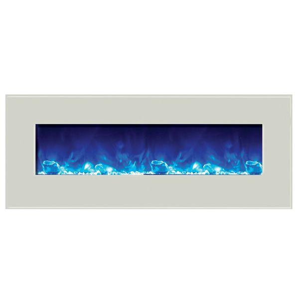 """Amantii Enhanced 48"""" Electric Fireplace - White image number 2"""