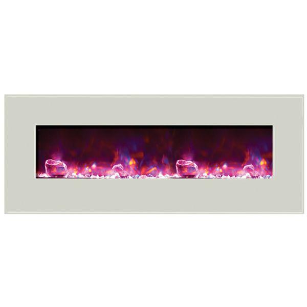 """Amantii Enhanced 48"""" Electric Fireplace - White image number 3"""
