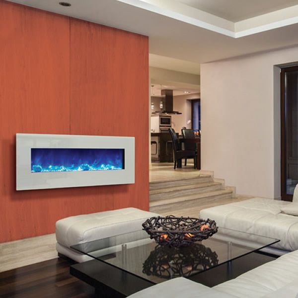 """Amantii Enhanced 48"""" Electric Fireplace - White image number 4"""