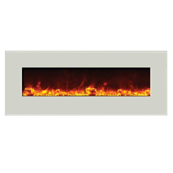 """Amantii Enhanced 48"""" Electric Fireplace - White image number 0"""
