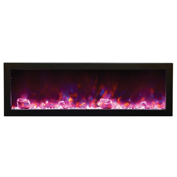 "Amantii Deep 50"" Electric Fireplace - Black Steel Surround image number 1"