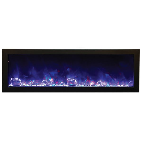 "Amantii Deep 50"" Electric Fireplace - Black Steel Surround image number 2"