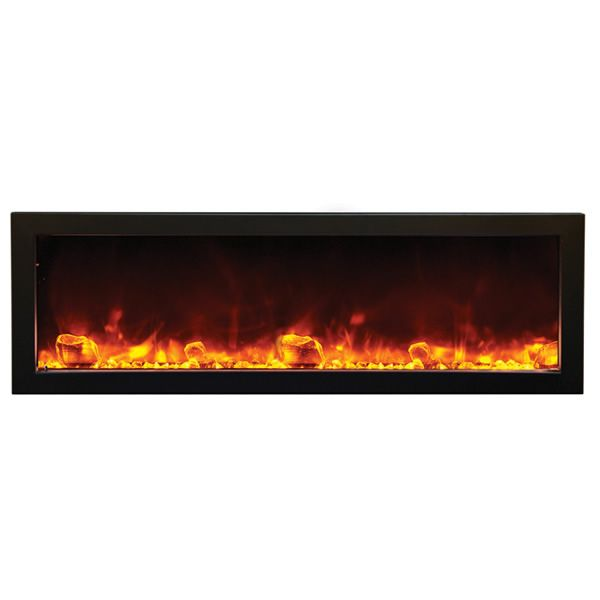 "Amantii Deep 50"" Electric Fireplace - Black Steel Surround image number 0"