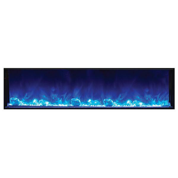 "Amantii Deep 72"" Electric Fireplace - Black Steel Surround image number 1"