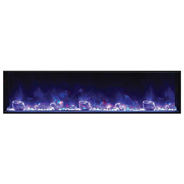 "Amantii Deep 72"" Electric Fireplace - Black Steel Surround image number 2"