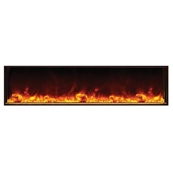 "Amantii Deep 72"" Electric Fireplace - Black Steel Surround image number 0"