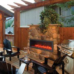 Amantii Slim Built-In Indoor/Outdoor Electric Fireplace