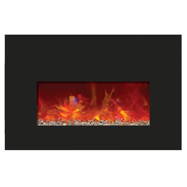 Amantii Small Insert Electric Fireplace - Black Glass image number 0