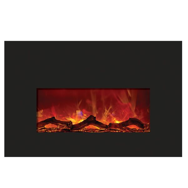 Amantii Small Insert Electric Fireplace - Black Glass image number 1