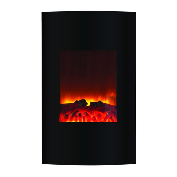 """Amantii Wall-Mount Convex Electric Fireplace - 21"""" x 34"""" image number 0"""