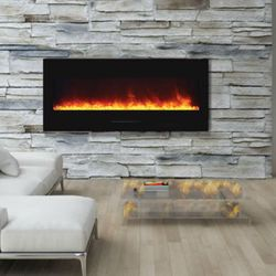 Amantii Wall Mount Linear Electric Fireplace - 51""