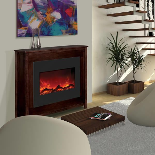 "Amantii 30"" Zero Clearance Electric Fireplace - Espresso Mantle image number 0"