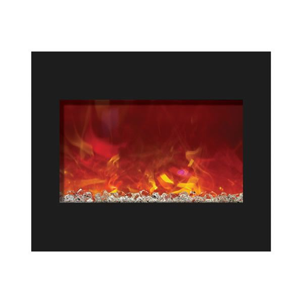 "Amantii 30"" Zero Clearance Electric Fireplace - Espresso Mantle image number 3"