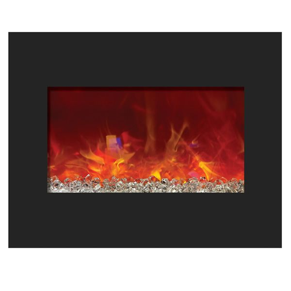 "Amantii 26"" Zero Clearance Electric Fireplace - Black Glass image number 0"