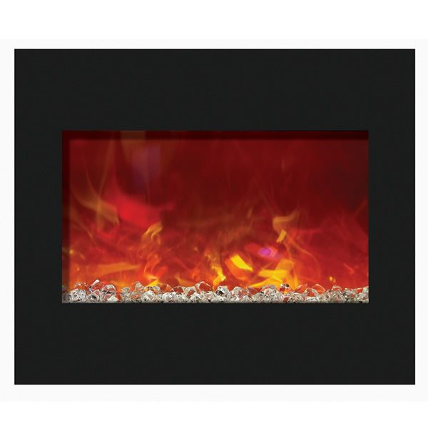 "Amantii 30"" Zero Clearance Electric Fireplace - Black Glass image number 1"