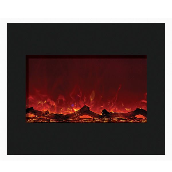 "Amantii 30"" Zero Clearance Electric Fireplace - Black Glass image number 0"