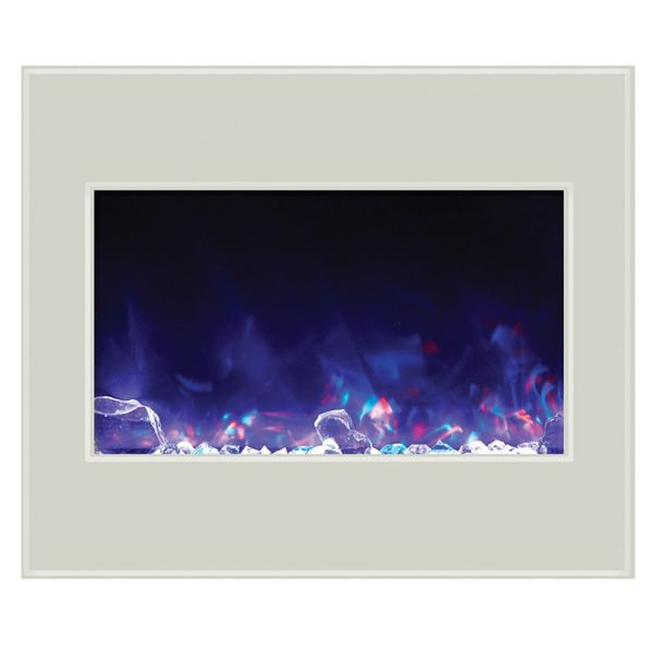 "Amantii 30"" Zero Clearance Electric Fireplace - White Glass image number 2"