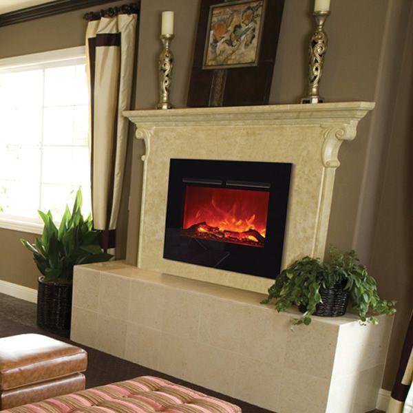 """Amantii Zero Clearance Flush Mount Electric Fireplace -26"""" image number 1"""