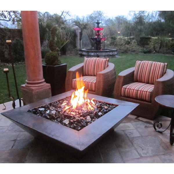 Amiata Copper Gas Fire Pit image number 1