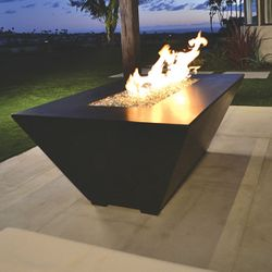 Amiata Linear Concrete Fire Pit