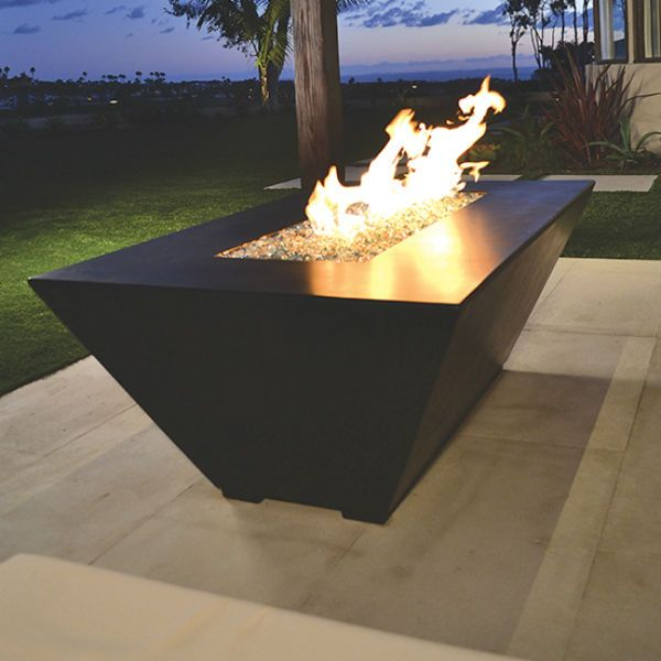 Amiata Linear Concrete Fire Pit image number 0