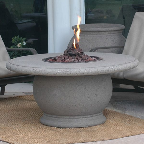 Amphora Gas Fire Pit Table with Concrete Top image number 0