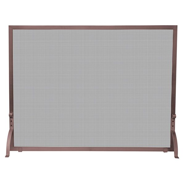 "Antique Copper Single Panel Fireplace Screen - 44"" x 33"" image number 0"