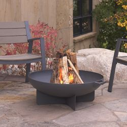 Real Flame Anson Wood Burning Fire Bowl - Gray