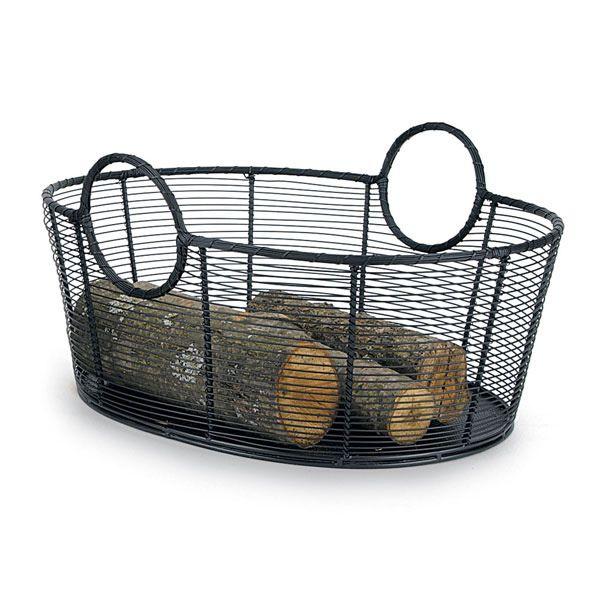 "Minuteman Steel Firewood Basket - 21"" image number 0"