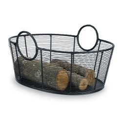 "21"" Steel Firewood Basket"