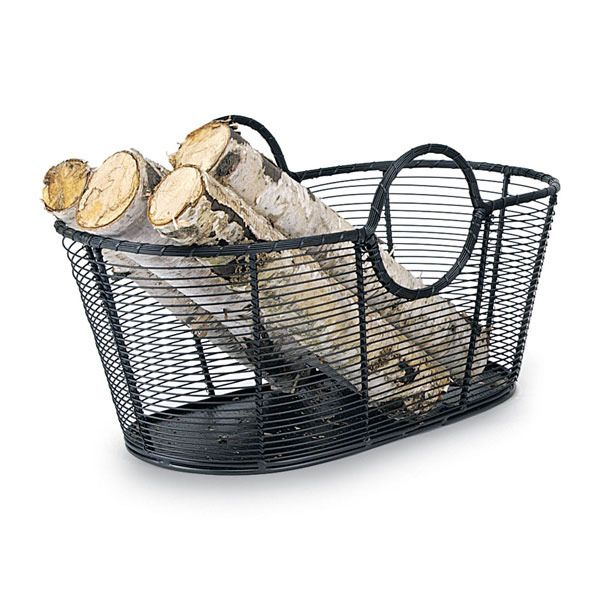 "Minuteman Steel Wire Firewood Basket - 12"" image number 0"