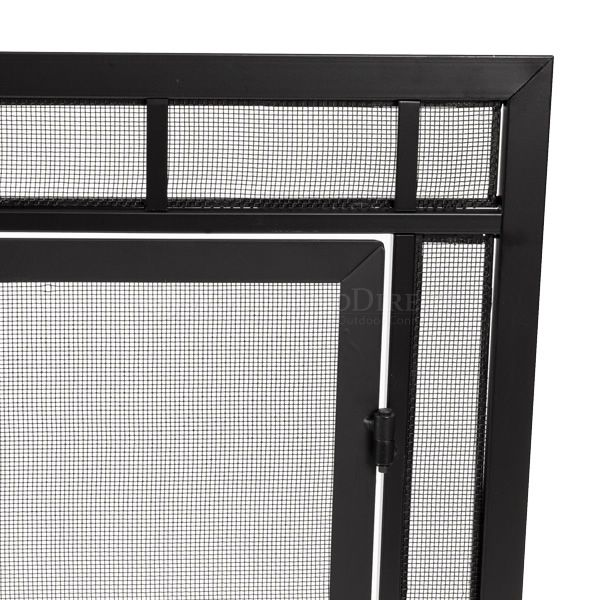 """Adams Mission-Style Window Pane Fireplace Door Screen - 44""""W x 33""""H image number 1"""