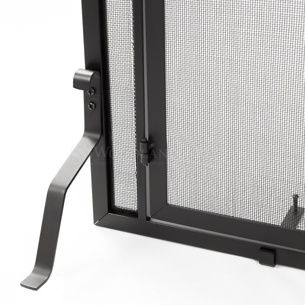 """Adams Mission-Style Window Pane Fireplace Door Screen - 44""""W x 33""""H image number 2"""