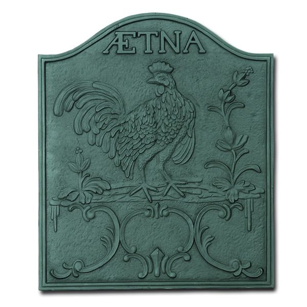 Aetna Cast Iron Fireplace Fireback image number 0