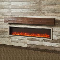 "Aged Cedar Supercast Fireplace Mantel Shelf - 72"""