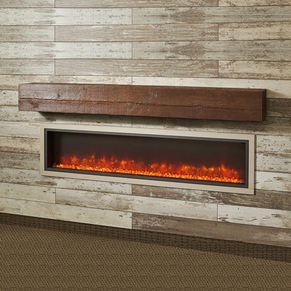"Aged Cedar Supercast Fireplace Mantel Shelf - 72"" image number 0"