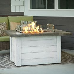 Alcott Linear Gas Fire Pit Table