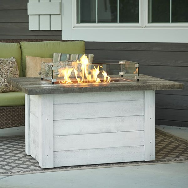 Alcott Linear Gas Fire Pit Table image number 0