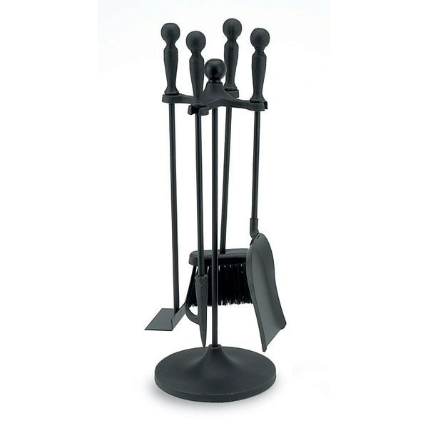 "All Black 3 Piece Mini Fireplace Tool Set - 22""H image number 0"